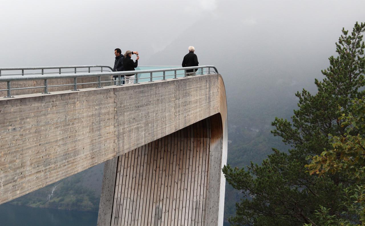 Stegastein kilátó Norevégia