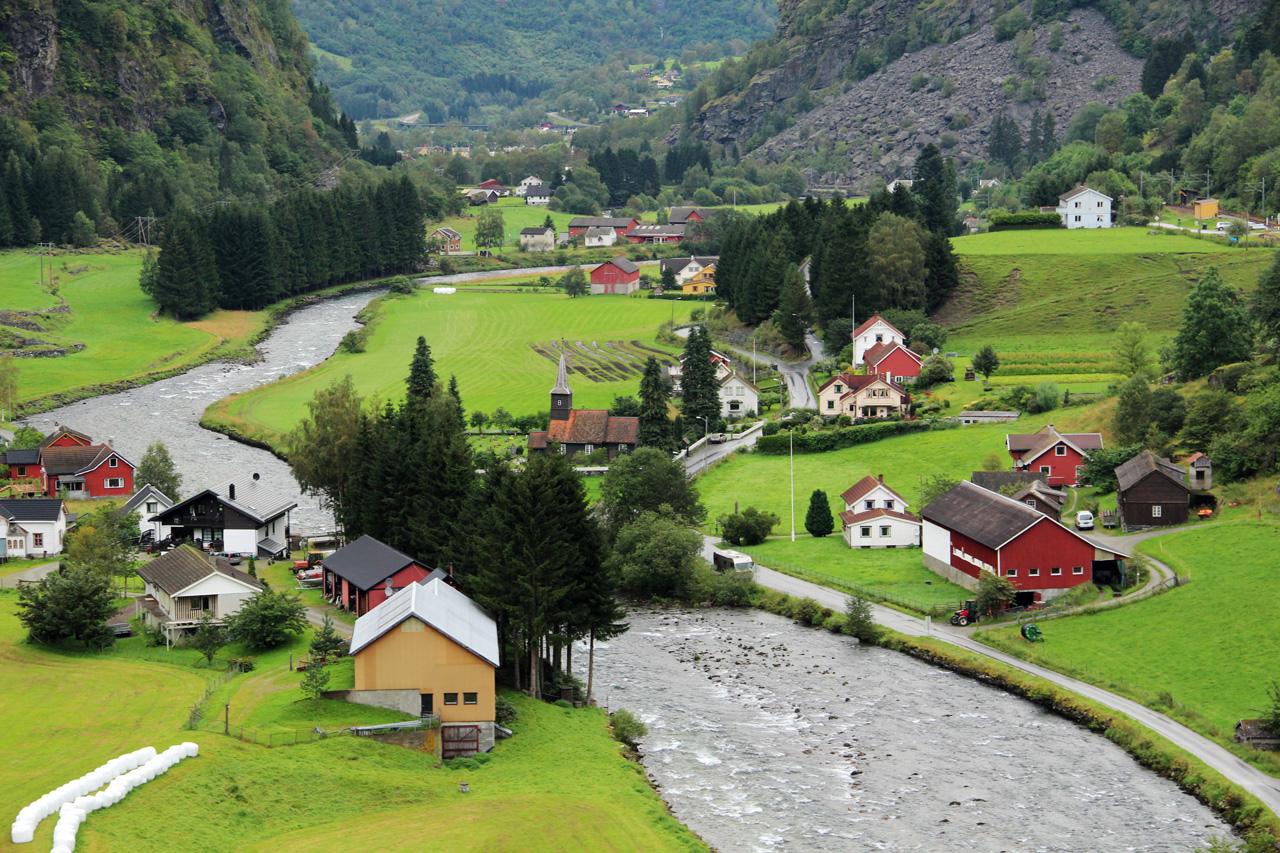 Flam Myrdal vasút Norvégia