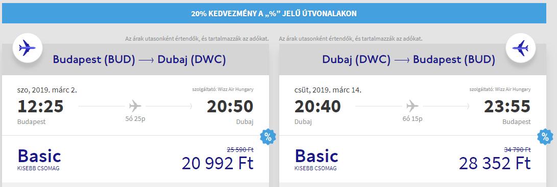 Budapest Dubaj repülőjegy