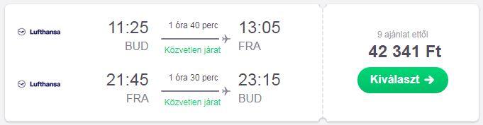 Budapest Frankfurt Lufthansa repülőjegy