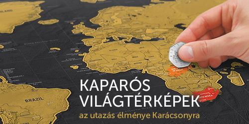 Kaparós térkép, ajándék világutazóknak