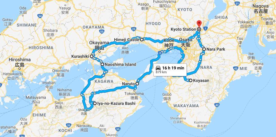 Naruto Tokushima Japán térkép