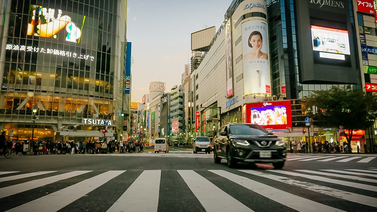 Shibuja Crossing zebra gyalogos átkelő
