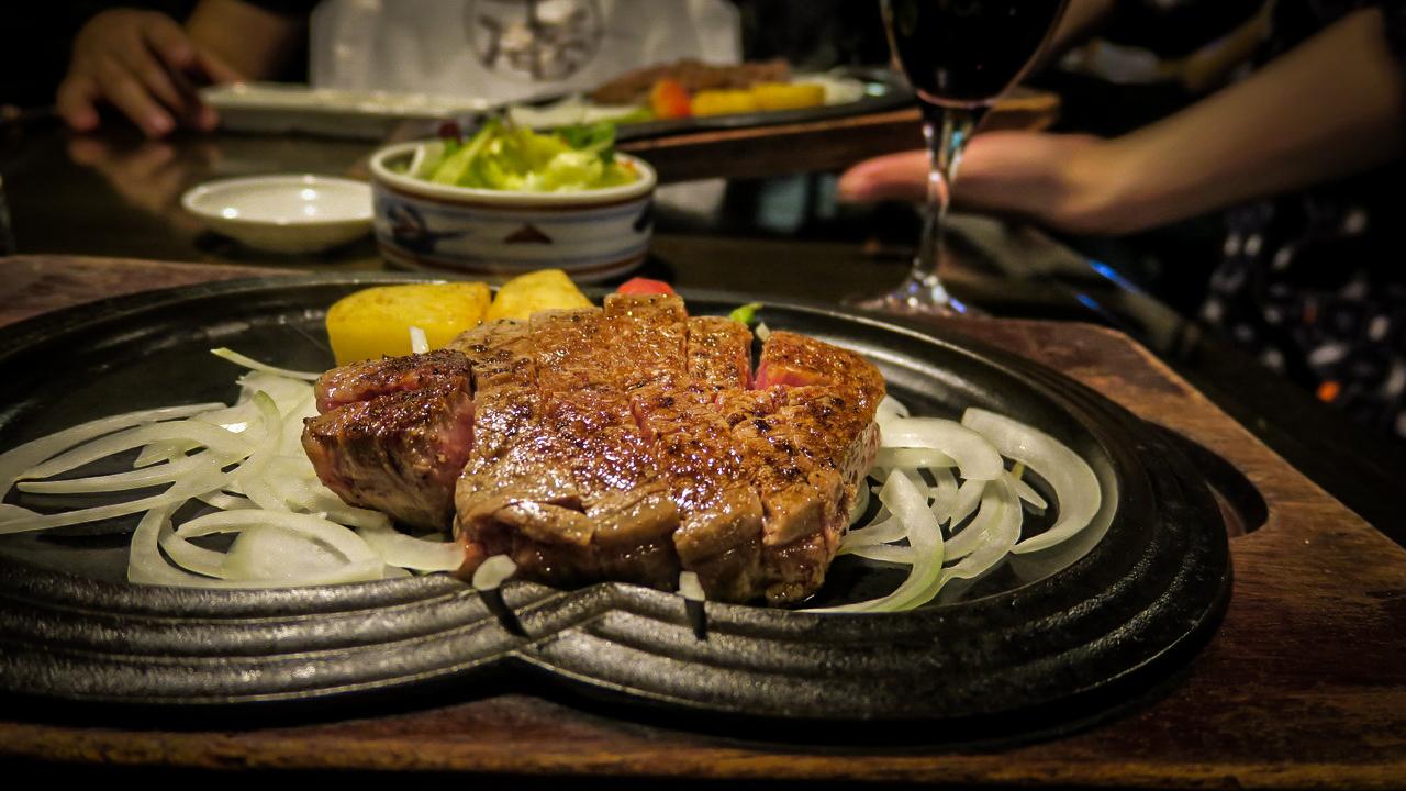 Kobe marha steak Japán