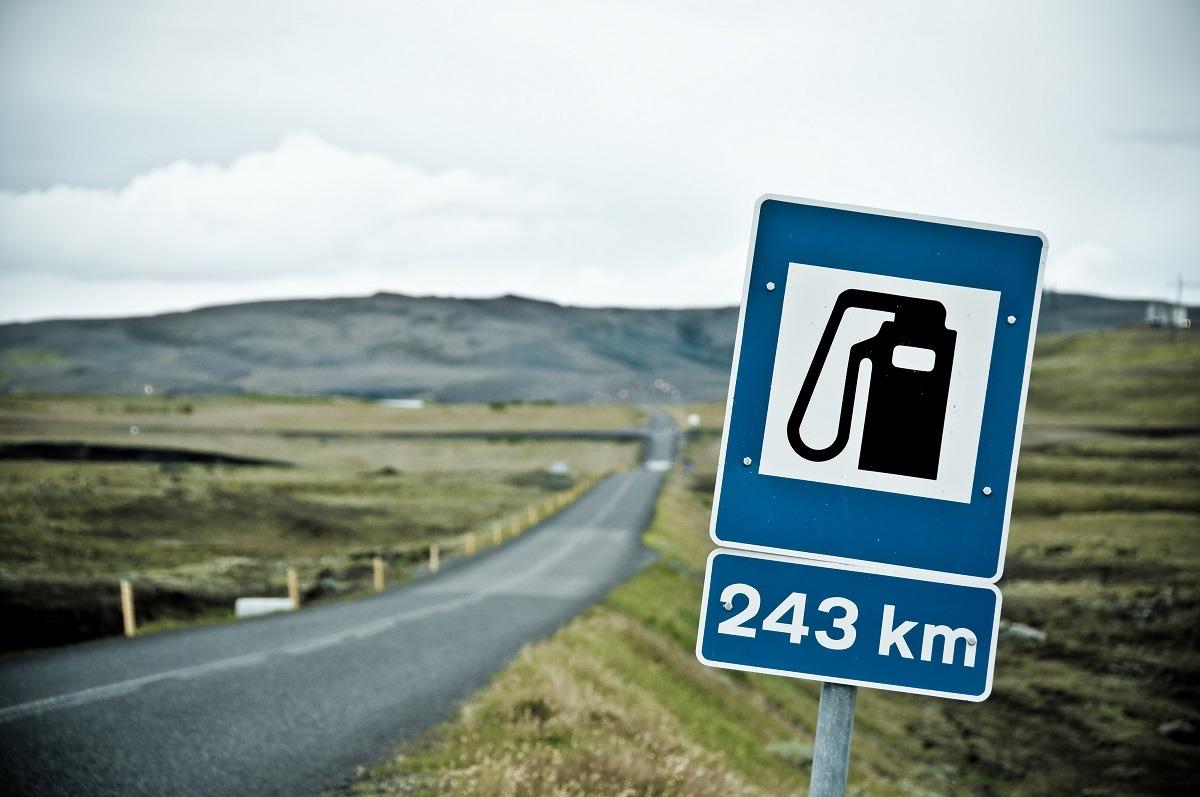 Benzinkút Izland