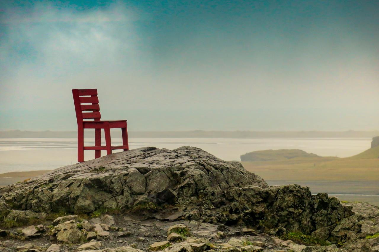 Izland piros szék