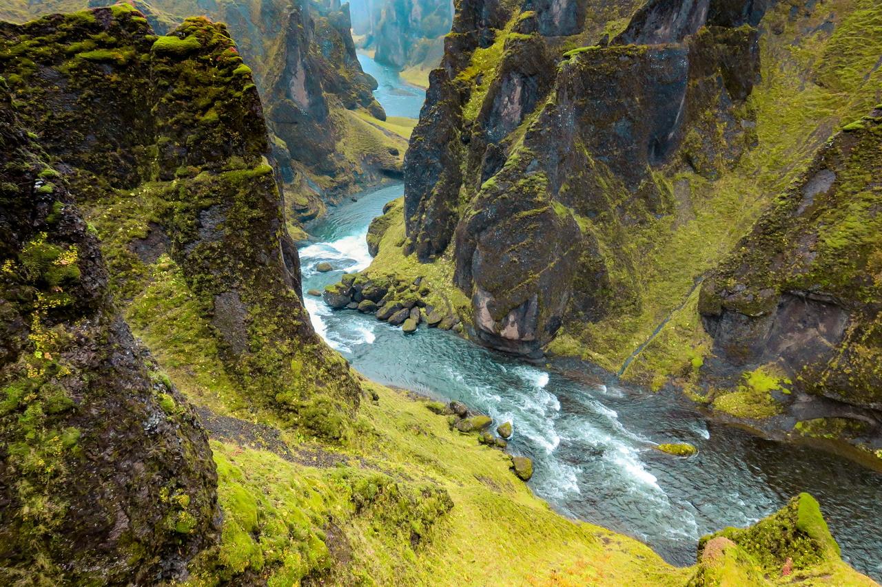 Fjađrárgljúfur kanyon Izland