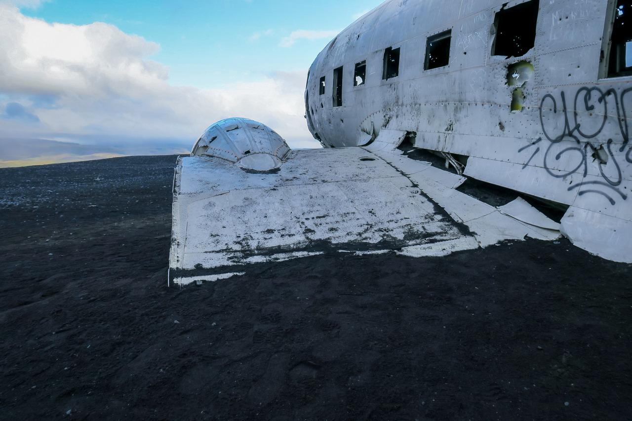 Izland DC3 repülő roncs