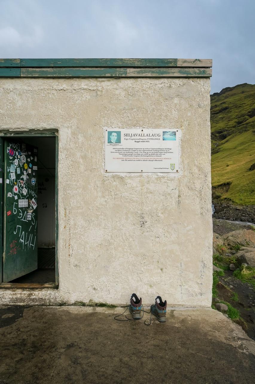 Seljavallalaug medence Izland