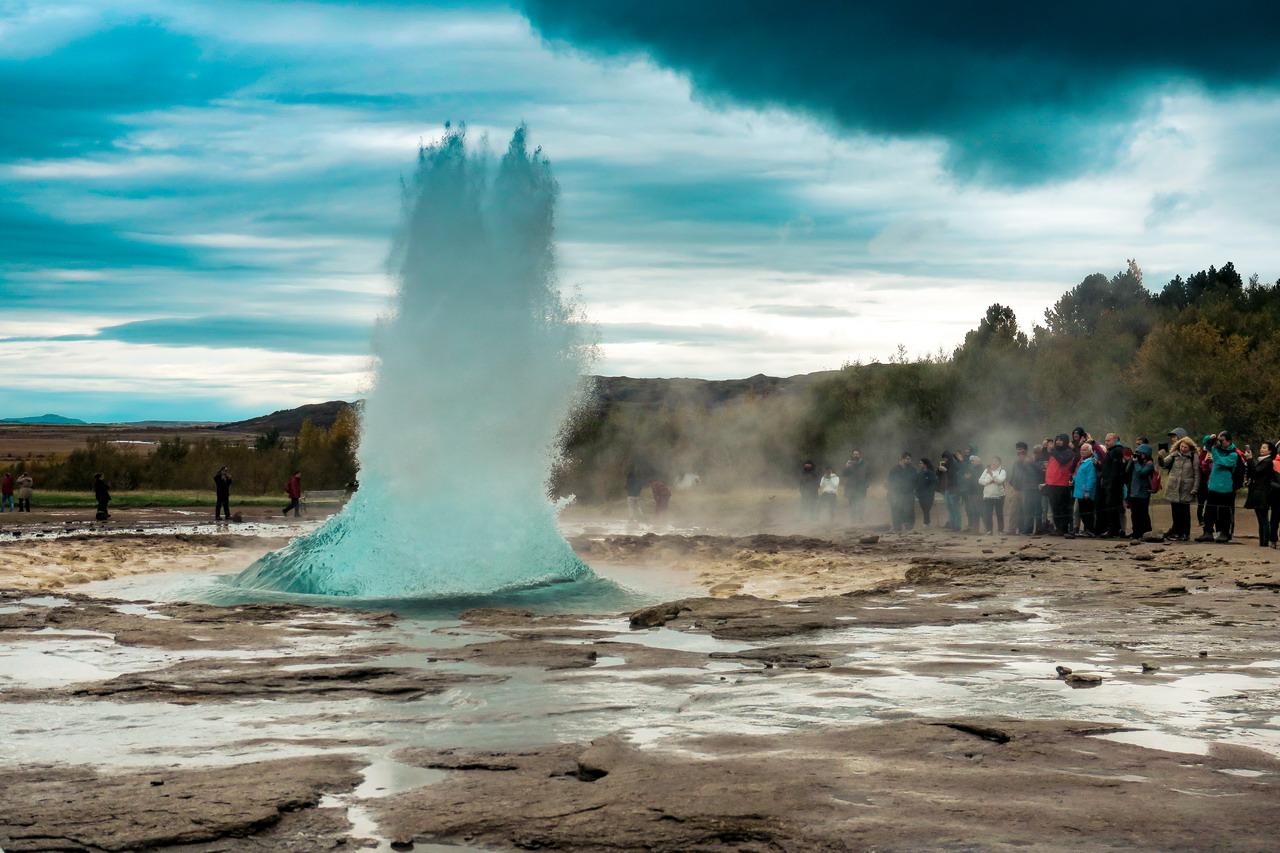 Strokkur gejzír Izland
