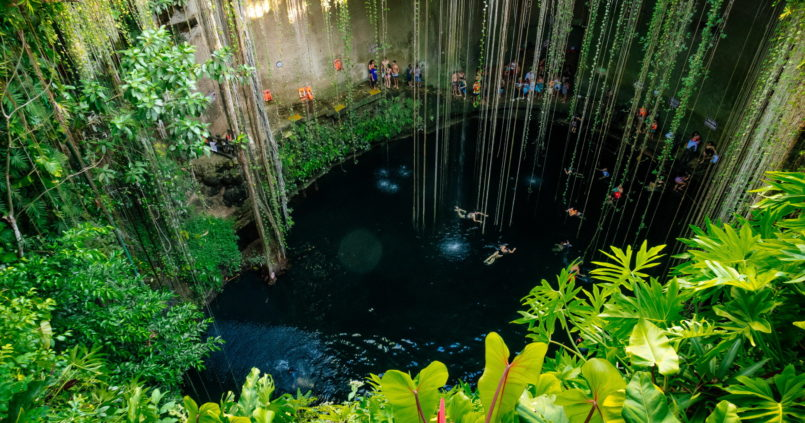 cenote mexikó
