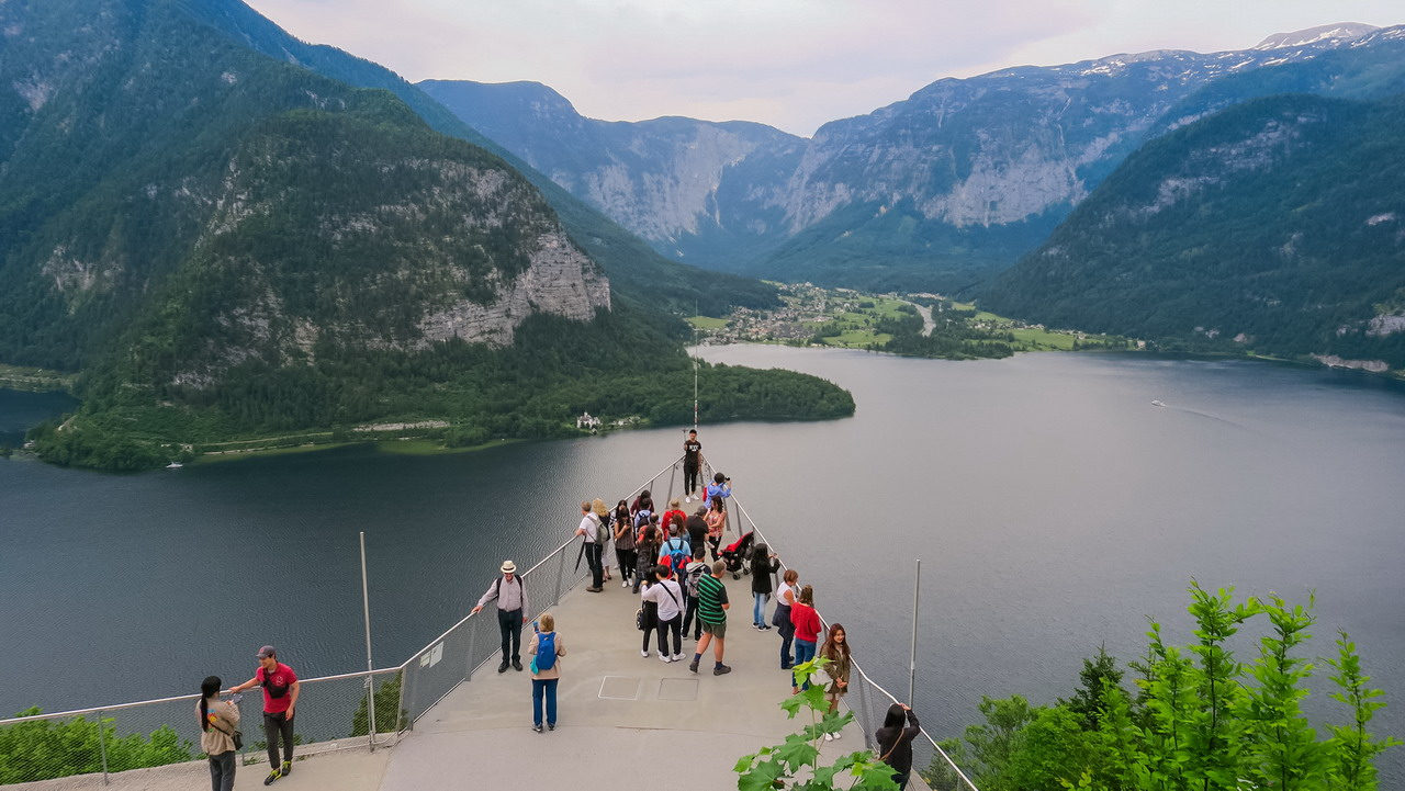hallstatt skywalk kilátó