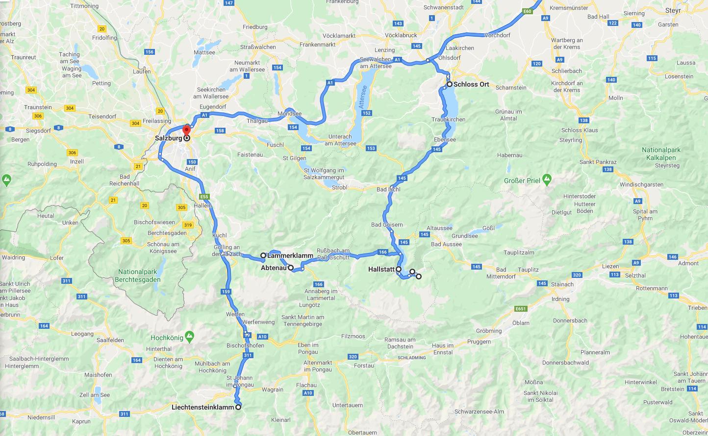 Útiterv, térkép