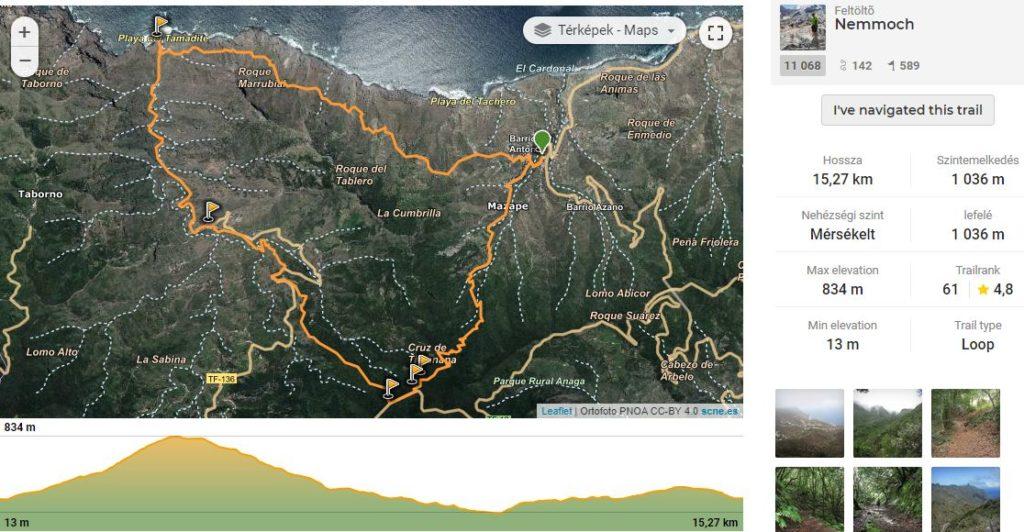 Afur – Taganana – Tamadiste útvonal